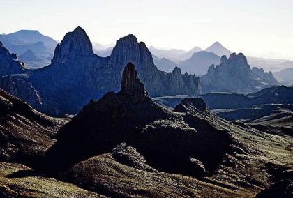 Algeria. Sahara Desert. Ahaggar Mountains. Atakor Massif.